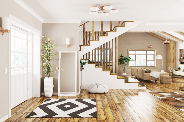 natural finshed hardwood floors